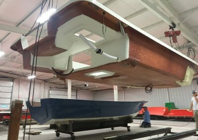 mold of a boat