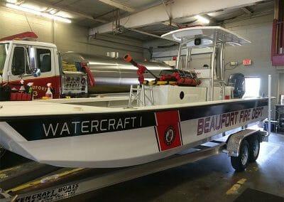 beaufort fire dept custom boat side view