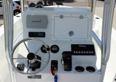 steering wheel and console set up of a challenger