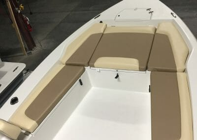 optional forward seating on a boat