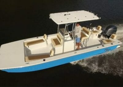 top view of a blue bay rider faltbottom
